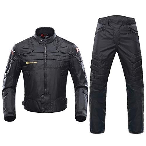 Motorradjacke Motocross Anzüge Jacke & Hosen Moto Jacke Schutzkleidungsrüstung Motorrad Kleidung 020 Black Suit XL