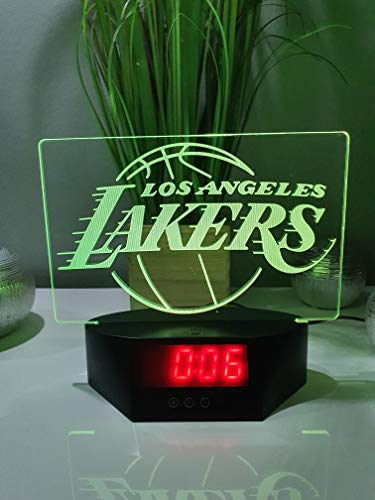 Los Angeles Lakers Leuchtschild LED Neu Schild NBA USA Neon/Lampe Tischlampe