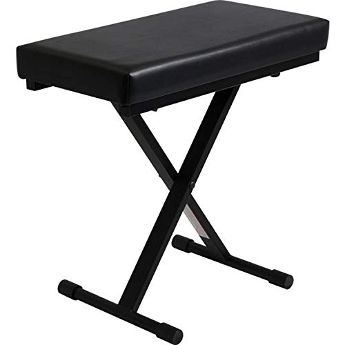 Big Save! Ultimate Support JamStands JS-XB100-B Extra Capacity Keyboard Bench, Black