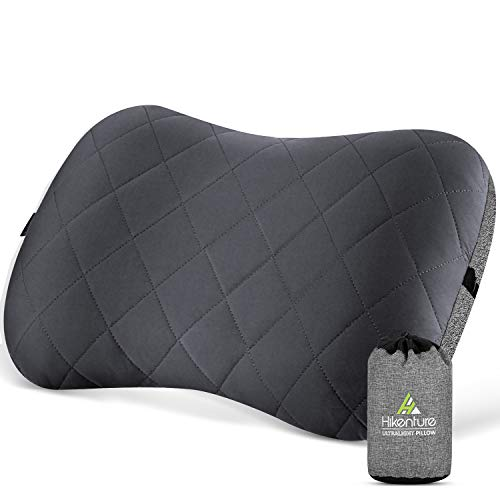 Hikenture Camping Pillow with Removable Cover - Ultralight Inflatable Pillow for Neck Lumber Support...