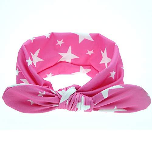 Moda Venta al por Mayor Banda for el Pelo de los niños Tela Encantadora Arte Orejas de Conejo Diadema Niñas Cabeza aro Bebé Neumático Niños Rose Women's Hat Rollo Suave (Color : 6)