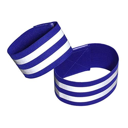 Garneck Reflecterende Bands Reflector Hardloopversnelling Hardlopen Armabnd Reflector Veiligheid Reflecterende Bands voor Joggen Fietsen Wandelen 2PCS Blauw