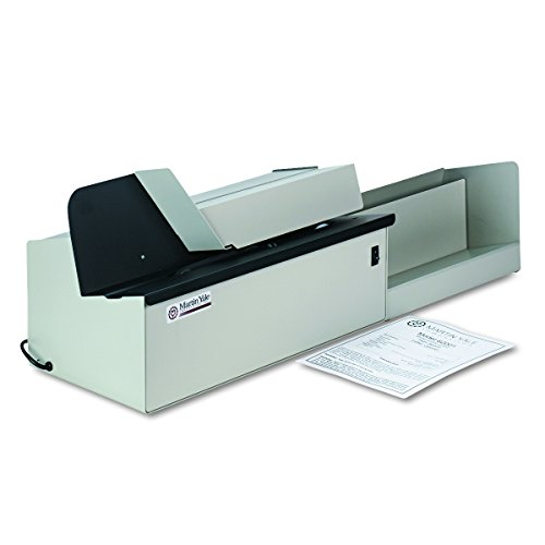 """Martin Yale 62001 Deluxe High-Speed Letter Opener, Gray, Up To 17,500 Envelopes per Hour, Accepts a 6"""" Tall Stack of Envelopes, 500,000 per Month Capacity"""