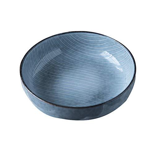 YNHNI Tazón de cerámica de Ensalada de Fruta Placa Noodle Bowl de Hogares Vajilla Placa del Desayuno (Color : 22cm)