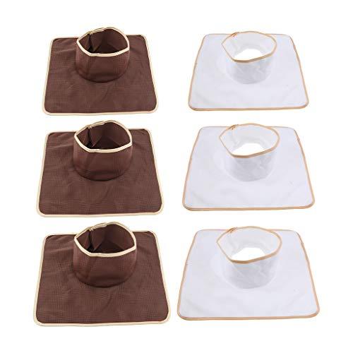 freneci 6er Set Wiederverwendbar Gesichtsauflage Gesichtskissen Nasenschlitztücher für Massageliege, Größe: ca. 35x3 5cm