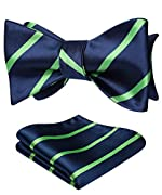 It is a self-tied bow tie (you have to tie it yourself). We focus on tie many years, Self-tied bow tie can make you look attractive and individuality which pre-tied bow tie is lack of. The natural form is charming and vivid when you tie it up. This b...