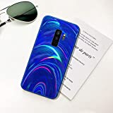 Ysimee Hülle kompatibel mit Samsung Galaxy S9 Plus Handyhülle,[Bunte Serie][Fallschutz, rutschfest], Weiche Silikon Schutzhülle Bumper Case Schutz Stoßfeste Protective Hülle Cover - Blau