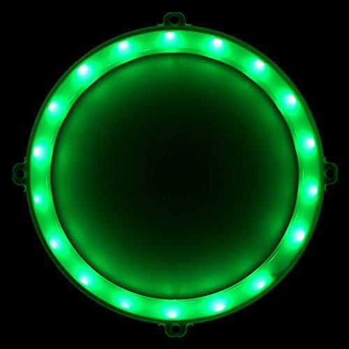 Blinngo Cornhole LED Lights, Ultra Bright Standard Cornhole Night Light for Family Backyard Bean Bag Toss Cornhole Game, Four Color Options, Long-Lasting Over 72 Hours, 2 Set (Green)