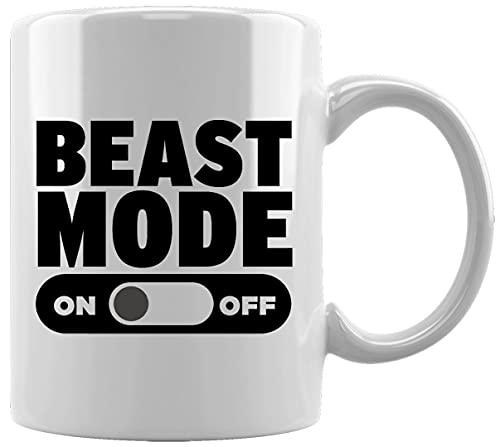 Beast Mode On Off Taza Blanca De Cerámica Hogar De Oficina De La Taza Del Agua Té Café White Ceramic Mug