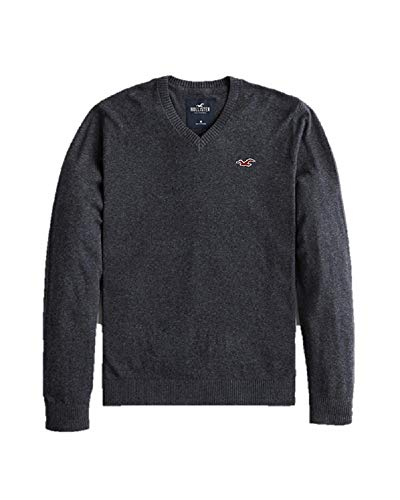 Hollister New by Abercrombie Grey Men's Sweater Jumper SZ Small