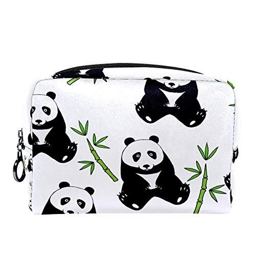 Trousse de maquillage multifonction avec motif panda mignon et bambou rose Couleur 10 7\