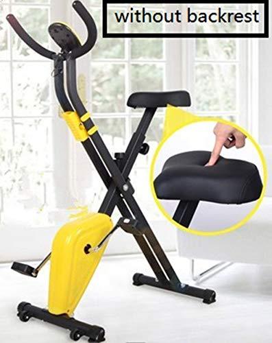 Hometrainers, Afvallen Fitnessapparatuur met LCD-scherm, Verstelbare weerstand Ultrastille binnensporten Mini Home Vouwpedaal Fitness Fiets