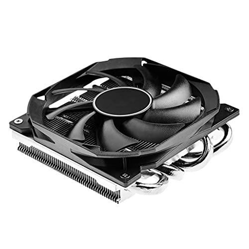 Cife Enfriador De CPU IS-30 con Ventilador De Refrigeración Silencioso PWM Ventilador De Radiador Enfriador De CPU De Perfil Bajo De 30 Mm para ITX A4 Sase Slim Chasis AM4 Intel LGA