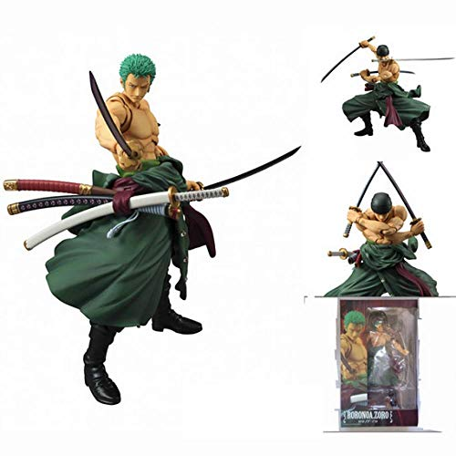 MNZBZ Anime Figures Anime One Piece Zero Figure PVC 18cm Action Figures S.H. Giocattoli Modello Roronoa Zoro Collezione di Modelli juguetes