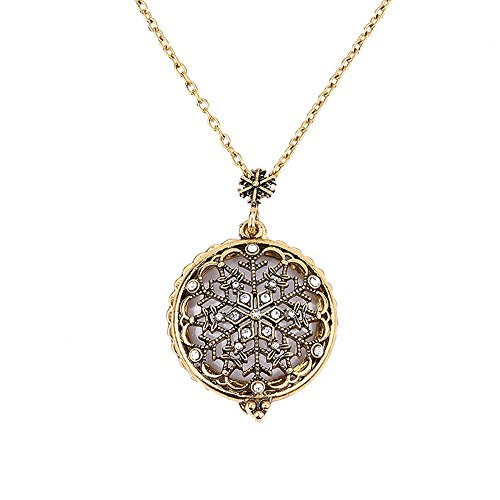 jieGorge Necklaces & Pendants, Magnifier Pendant Necklace Magnify Glass Reeding Decorativ Necklace, Jewelry for Women Gifts (C)