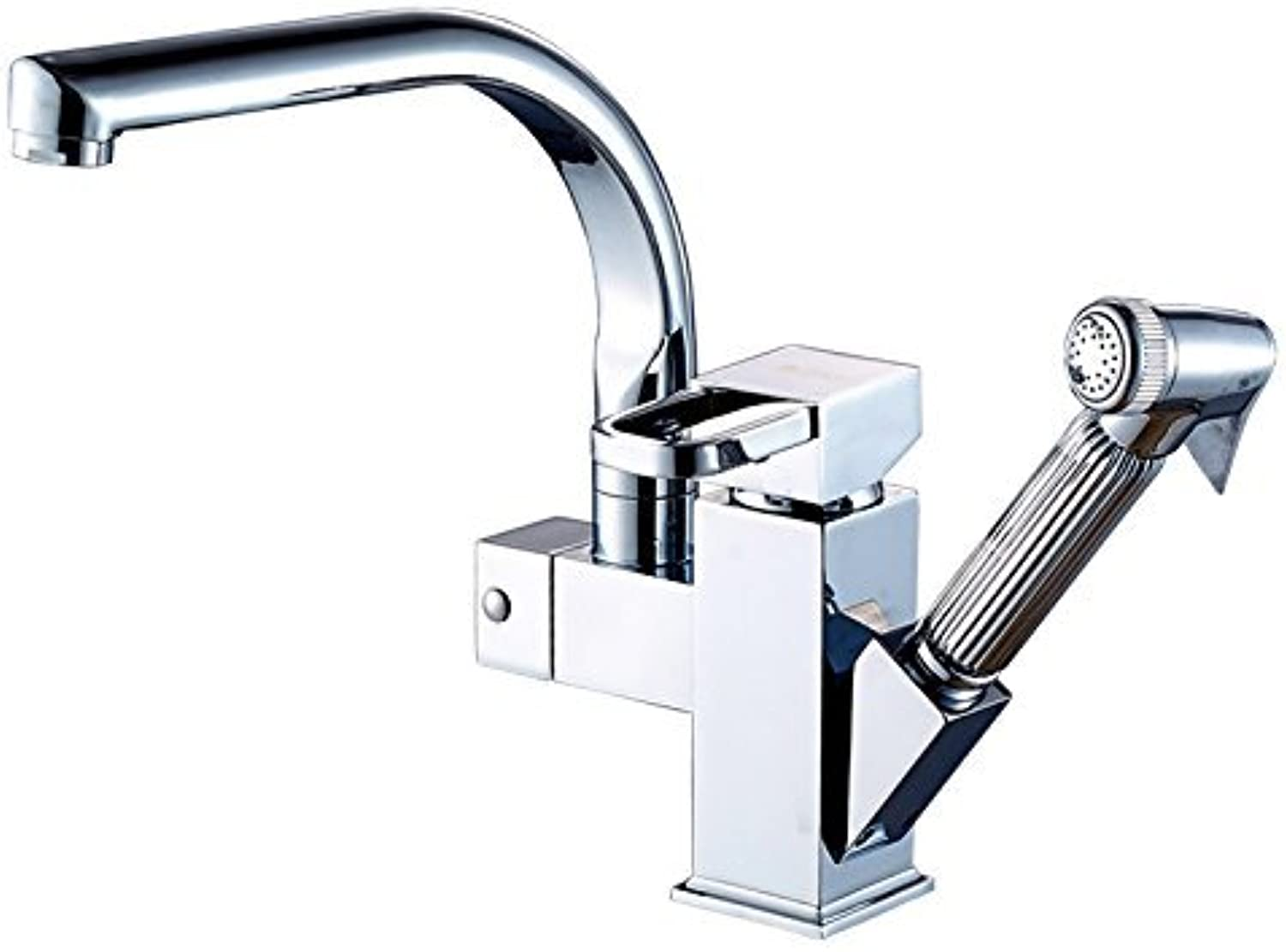 The Full of Cold and hot Water Connection Kitchen Copper Subscription Stretch wash basins Universal Water Tank Faucet