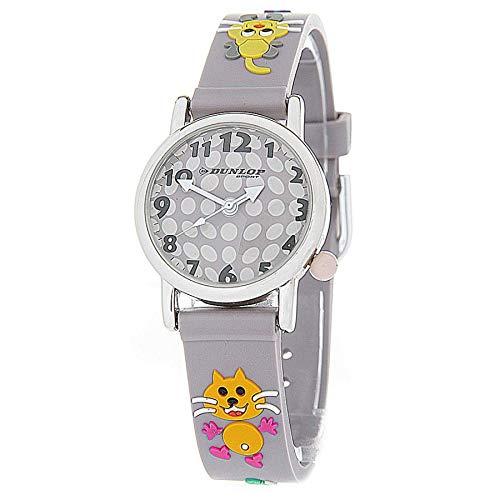 Dunlop Unisex Erwachsene Analog Quarz Uhr mit PU Armband CRIT4