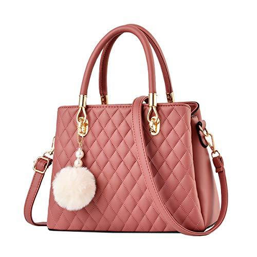 NIYUTA Damenhandtaschen Mode Schultertaschen Shopper Umhängetaschen Henkeltaschen DE125 Rosa