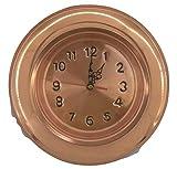 artigianatodaloise - Reloj de cobre estilo brasero artesanal fabricado en Italia - Reloj de cobre estilo brasero