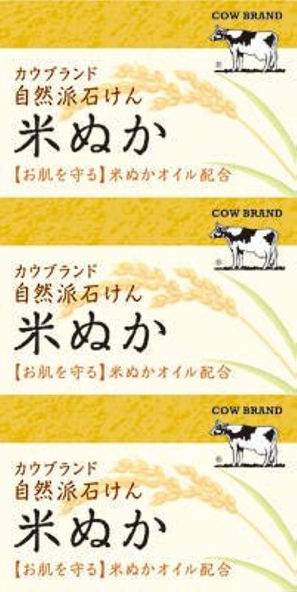 危険を冒します整然とした略奪牛乳石鹸共進社 カウブランド 自然派石けん 米ぬか 100g×3個入×24点セット (4901525002899)