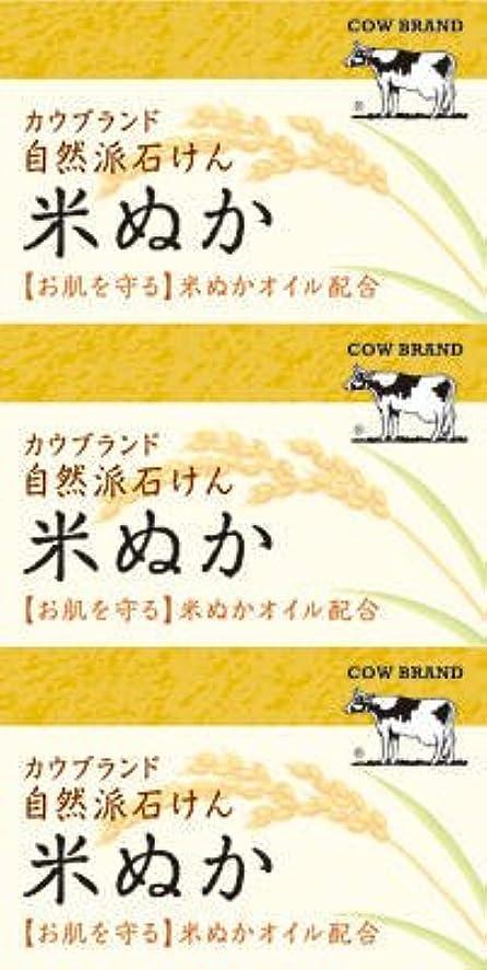 エーカー運命的なアーチ牛乳石鹸共進社 カウブランド 自然派石けん 米ぬか 100g×3個入×24点セット (4901525002899)