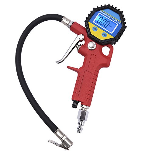 MICTUNING Portable Tire Inflator, Digital Tire Pressure Gauge with Lock-On Air Chuck - 150PSI, 10BAR, 1000KPA
