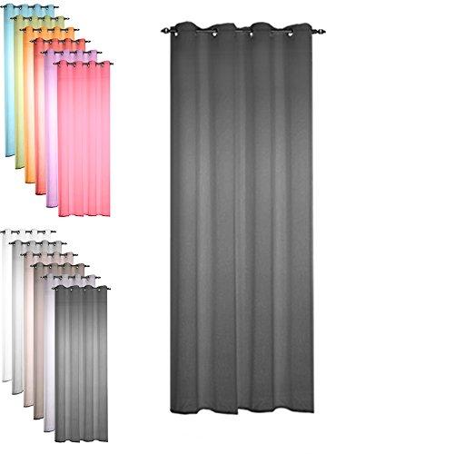 Today 257344 Voilage Polyester Réglisse/Noir 135 x 240 cm