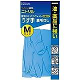 ダンロップ ホームプロダクツ ゴム手袋 作業用 ニトリル ワークハンズ 薄手 裏毛なし ブルー M 油 薬品に強い B-133