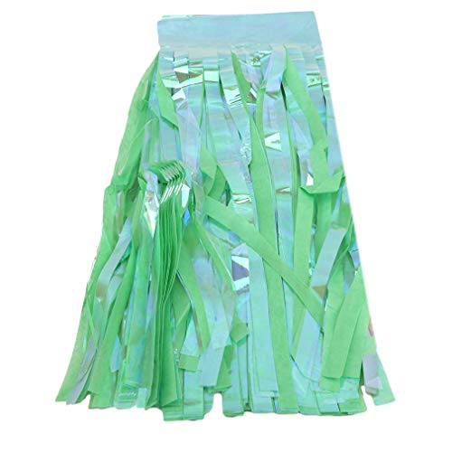 ZHLCity Paper Tassle Banner Garland Decoration for Parties Events Weddings Decorative,Green