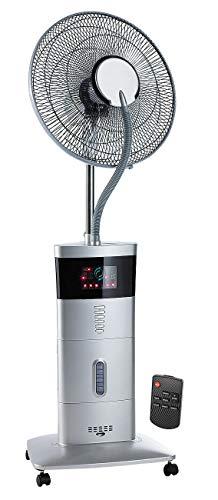 Sichler Haushaltsgeräte Nebel Ventilator: Stand-Ventilator VT-441.S, mit Ultraschall-Sprühnebel & Fernbedienung (Standventilator mit Fernbedienung)