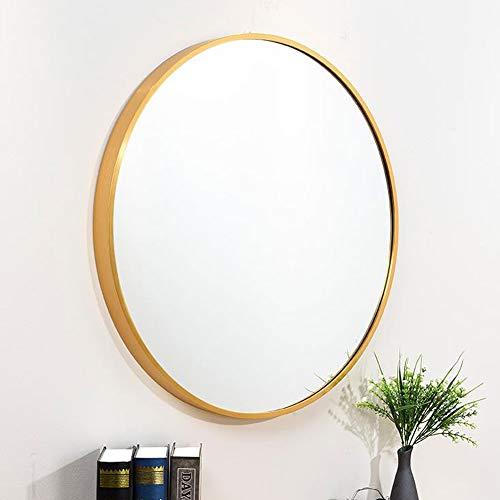 Badkamer Wandspiegel, Badkamer Spiegel, Badkamer Spiegels 80 cm Make-up Spiegel Ronde Vanity Spiegel Grote Aluminium Frame Decoratieve Spiegel voor Slaapkamer Woonkamer 314A