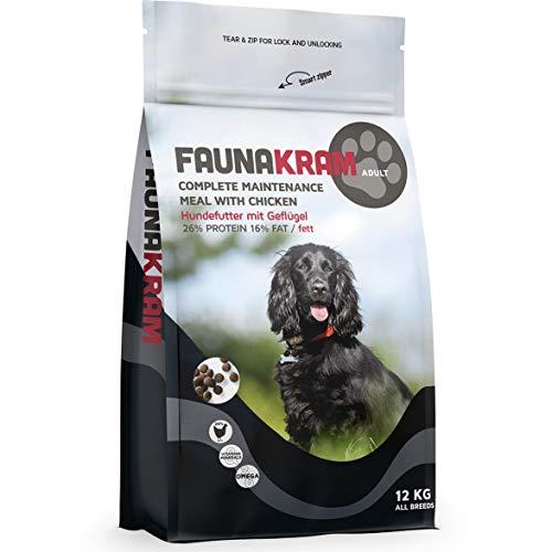 Faunakram Complete Maintenance Futter - Hundetrockenfutter mit Geflügel für...
