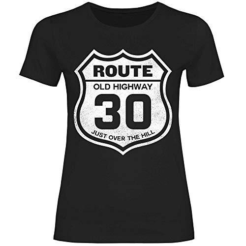 wowshirt Camiseta Ruta 40a 50.o Regalo del 60 cumpleaños de 20-90 años de la Vendimia para Mujer, Tamaño:XS, Color:30 Black