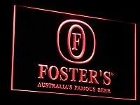 Fosters Beer Bar Pub Displays LED看板 ネオンサイン ライト 電飾 広告用標識 W40cm x H30cm レッド