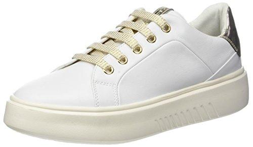 Geox Damen D NHENBUS A Sneaker, Weiß (White), 40 EU