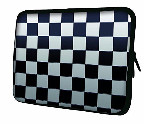 Ektor Hülle/Sleeve/Tasche für 25,4-44,7 cm (10-17,6 Zoll) Laptops/Notebooks, in unterschiedlichen Mustern & Größen erhältlich (Teil 2 von 3) Schachbrett 15