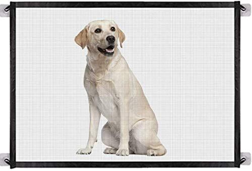 BTkviseQat Hundebarrieren,Tragbar Hunde Türschutzgitter,Faltbar Hundeschutzgitter, Absperrgitter Treppenschutzgitter für Haustier Hunde Katzen180 * 75CM