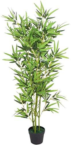 lyrlody- Planta Artificial Bambú Artificial para Salón u Oficina 120cm de Altura