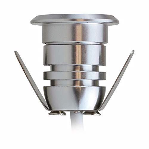 Lightshao Led-ondergrondse lamp, 12 V, aluminium hoeken, zeer kleine koplampen, vierkant, buiten, waterdicht, meerdere heldere kleuren