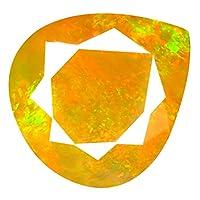 レインボーオパール ルースストーン 1.89 ct AAA+ Grade Gem Quality Pear Cut (10 x 9 mm) Un-Heated Ethiopian Rainbow Opal Genuine & Mined from Earth Loose Gemstone