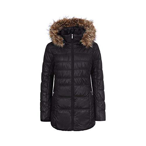 LUHTA pinka L8 dames winterjas gewatteerde jas zwart maat 48