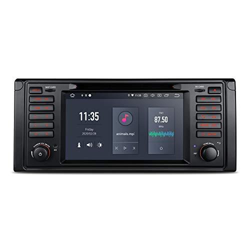 "XTRONS 7\"" 6 Core Android Autoradio mit Touchscreen Auto DVD Player Android 10.0 Hexa Core Autostereo unterstützt HDMI Ausgang 4G Qualcomm Bluetooth 4GB RAM 64GB ROM DAB OBD2 TPMS FÜR BMW E39"