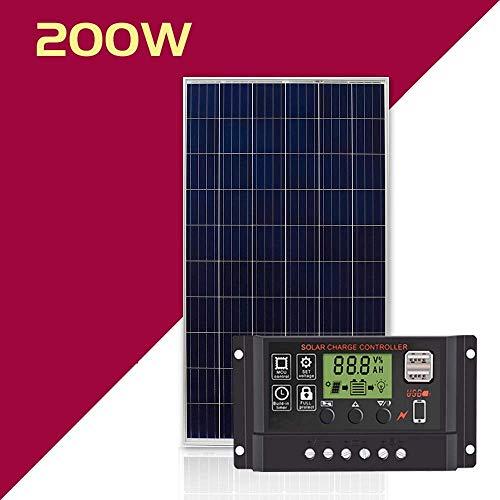 zhangchao 100W ~ 300W Monokristalline Solarmodul Sonnenenergie Haushalt Photovoltaik-Panel 12V / 24V Power Generation System,200w