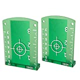Laser Targets, 2 Pack Magnetic Floor Laser Targets Card Plate for Green Beam Laser Level