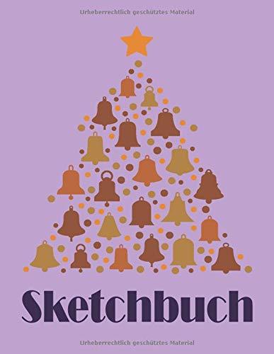Sketchbuch: Weihnachtsbaum Design Heft mit den Blanko Seiten für Skizzen Zeichnen und Malen - tolles Adventsgeschenk
