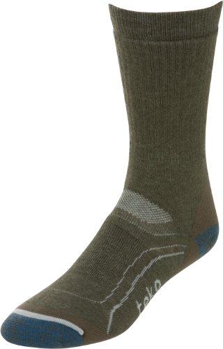 Teko Damen Mid Gewicht Wandern/Trekking Socken aus Bio Merinowolle, Damen, Organic Merino Wool Blend, Grau/Grün