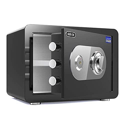 KDMB Cajas Fuertes Cerradura de combinación mecánica Seguridad, pequeño gabinete de Efectivo antirrobo antirrobo ignífugo para el hogar, 30x38x30cm, 5 Colores