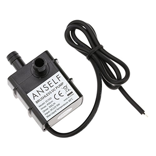 Anself DC12V 9W Pompe Submersible Pompe à Eau Pompe de Fontaine Aquarium 300 L/H Lift 450cm en Circulation