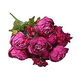 Dooxii Peonía Flores Artificiales Decoración para Hogar Fiesta de Boda de Jardín