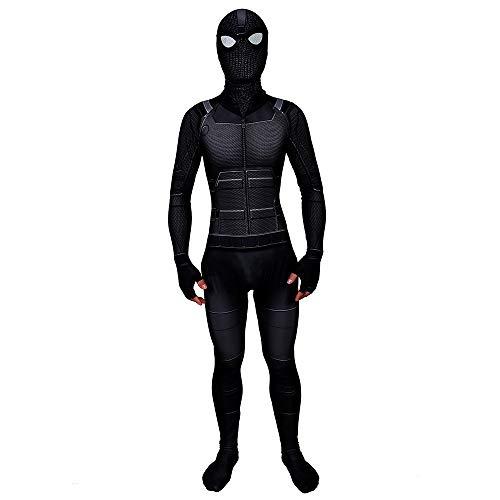 Disfraz Spiderman Far from Home Stealth Suit Nio Adulto Spiderman Cosplay Costume con Mscara (140)